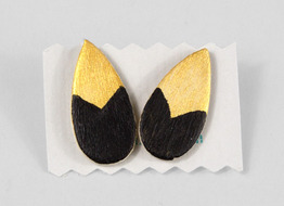 Tear Shaped, Chevron Earring