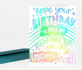 Birthday Rainbows and Unicorns