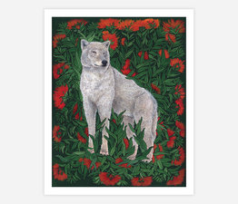 Gray Wolf with Cliff Paintbrush
