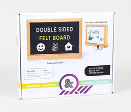 Double-Sided Felt Letter Board/Whiteboard
