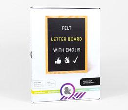 Black Felt Letter Board