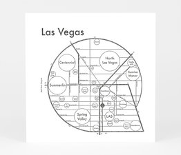 Circle Map of Las Vegas