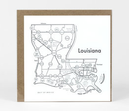 Circle Map of Louisiana