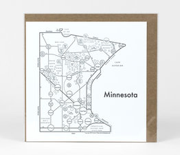 Circle Map of Minnesota