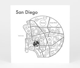 Circle Map of San Diego