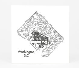Circle Map of Washington D.C.