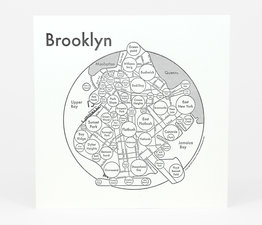 Circle Map of Brooklyn