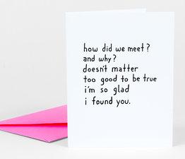 How Did We Meet