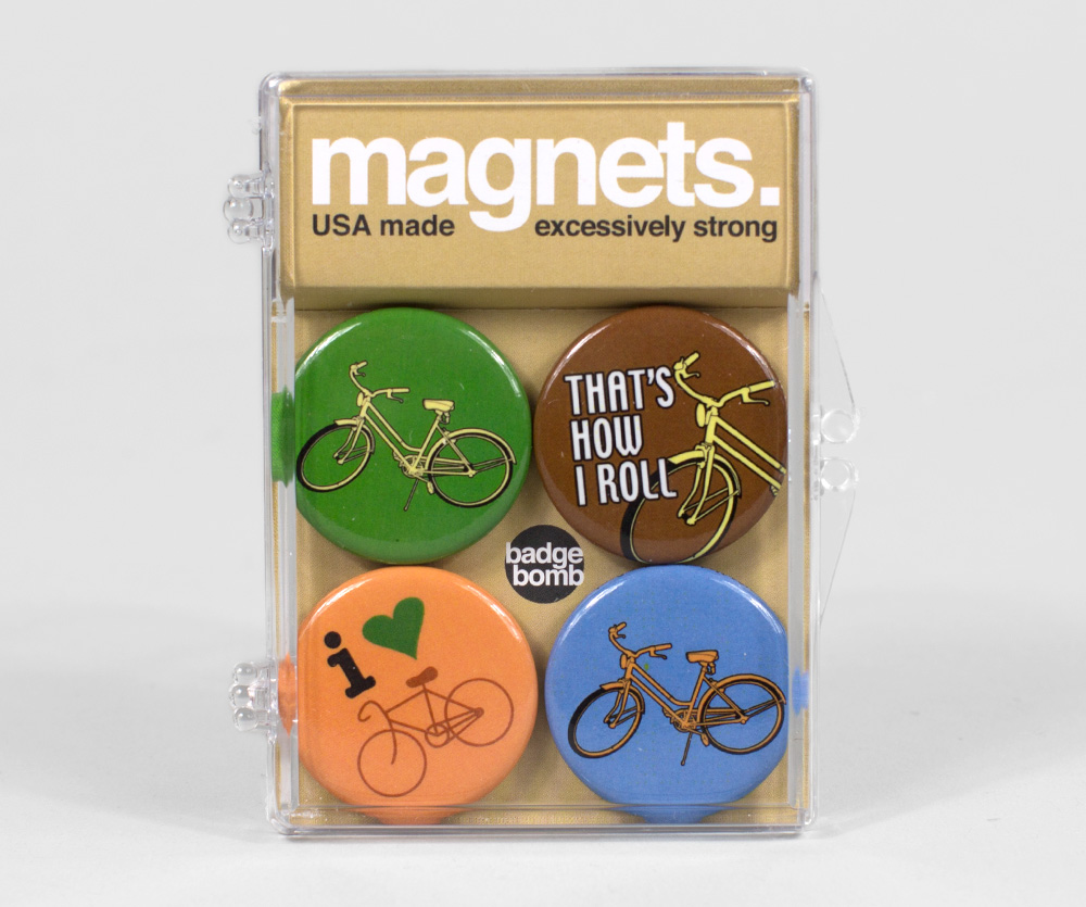 Bikes Magnets Badge Bomb Bikes Magnet Set