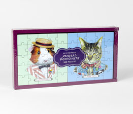 Animal Portraits Wood Puzzle Set