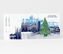 Portland Holiday Postcard Set