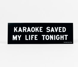 Karaoke Saved My Life Tonight