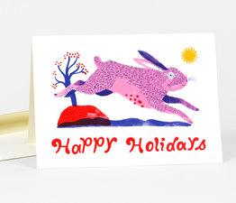 Happy Holidays Rabbit