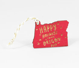 Happy Holidays from Oregon 2019 (Red)