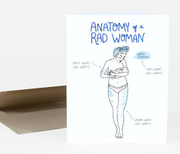 Anatomy of a Rad Woman (Blue)