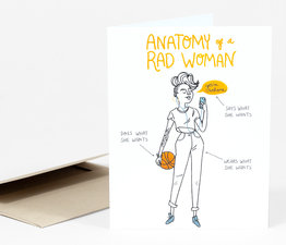 Anatomy of a Rad Woman (Orange)