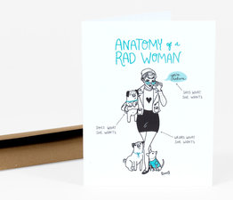 Anatomy of a Rad Woman (Turquoise)