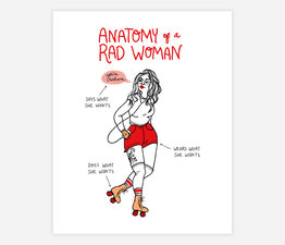 Rad Woman (Red)