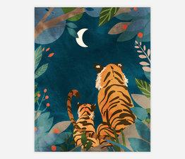 Tigers at Night