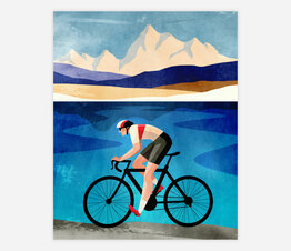 Cyclist By the Lake