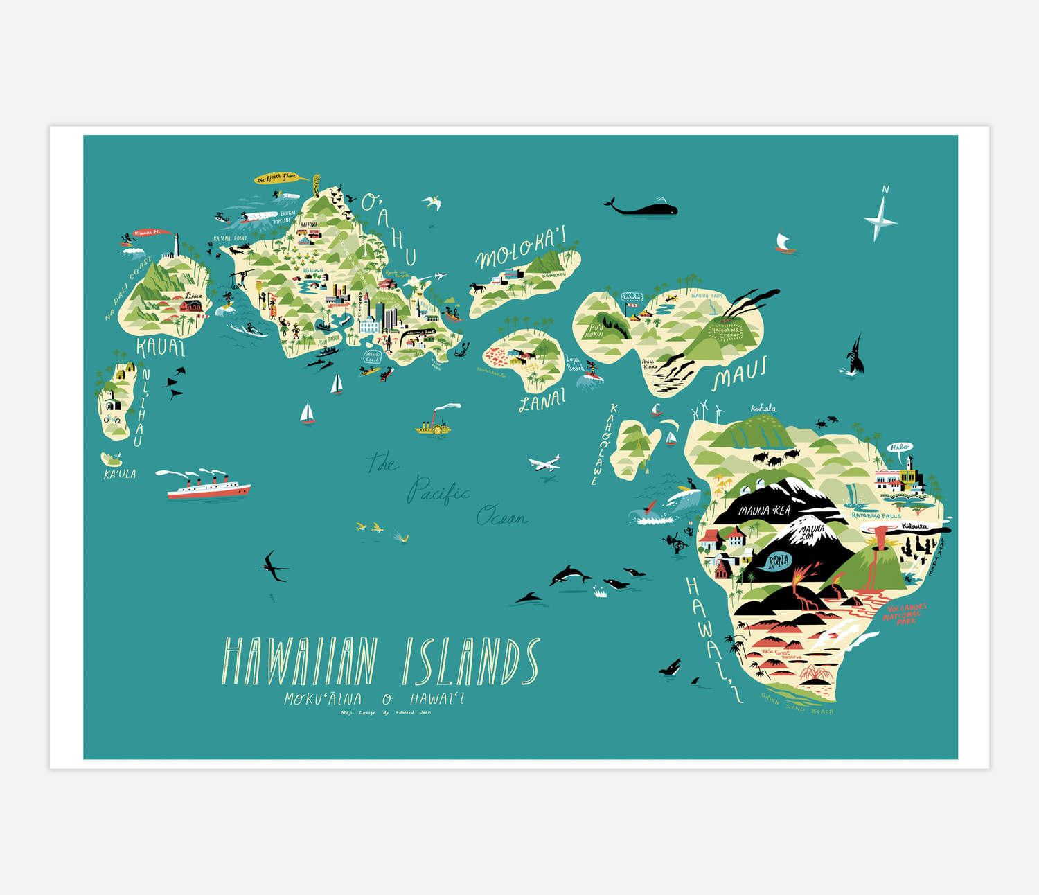 photograph relating to Printable Map of Hawaiian Islands named Hawaiian Islands