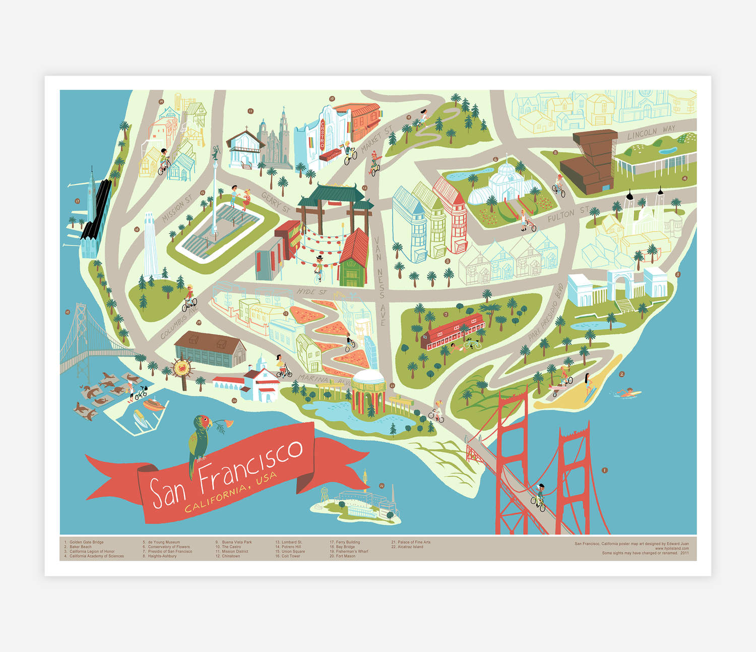 photo about San Francisco Maps Printable called San Francisco