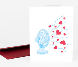 Fan with Hearts