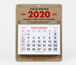 2020 Work Station Calendar