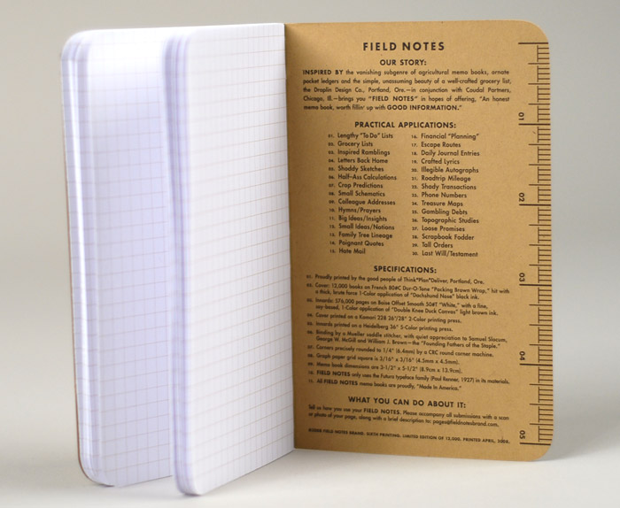 Field Notes Brand  Field Notes Memo Book At BuyolympiaCom