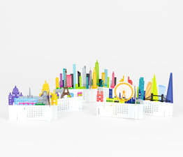 City - Paper Craft Calendar