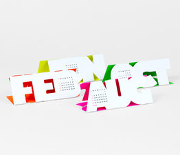 Type Face - Paper Craft Calendar