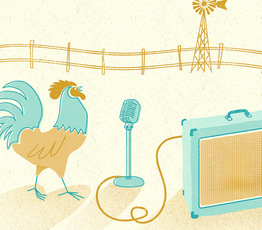Rooster and Microphone