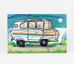 70's Pinstripe Van