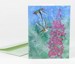 Rufous Hummingbird & Fireweed