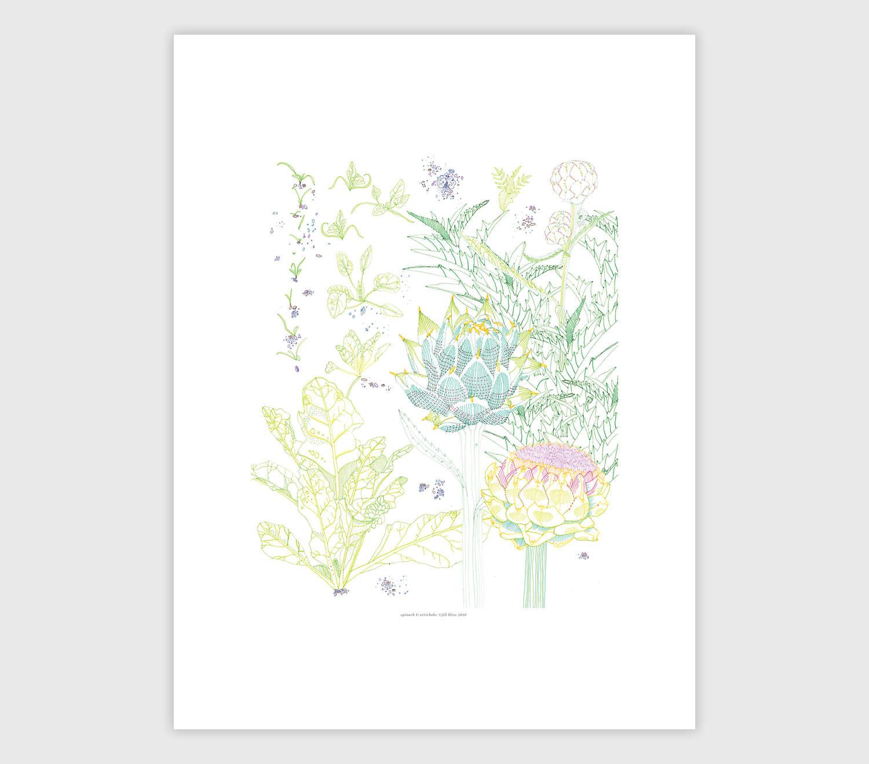 Jill Bliss. Garden Spinach And Artichoke