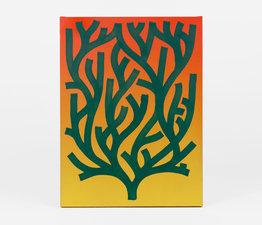 Forest Green on Orange/Yellow Gradient