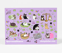 Matte Purrsonal Finance Sticker Sheet