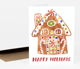 Happy Holidays (Gingerbread House)