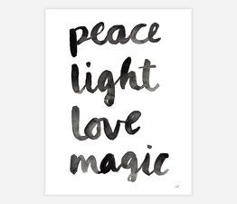 Peace Light Love Magic