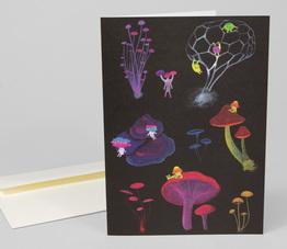 Mushroom Folk Card
