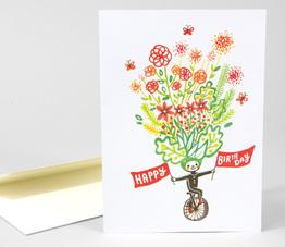 Birthday Unicycle Card