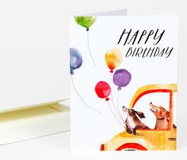 Happy Birthday (Dogs & Balloons)