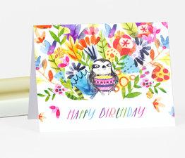 Happy Birthday Floral Sloth