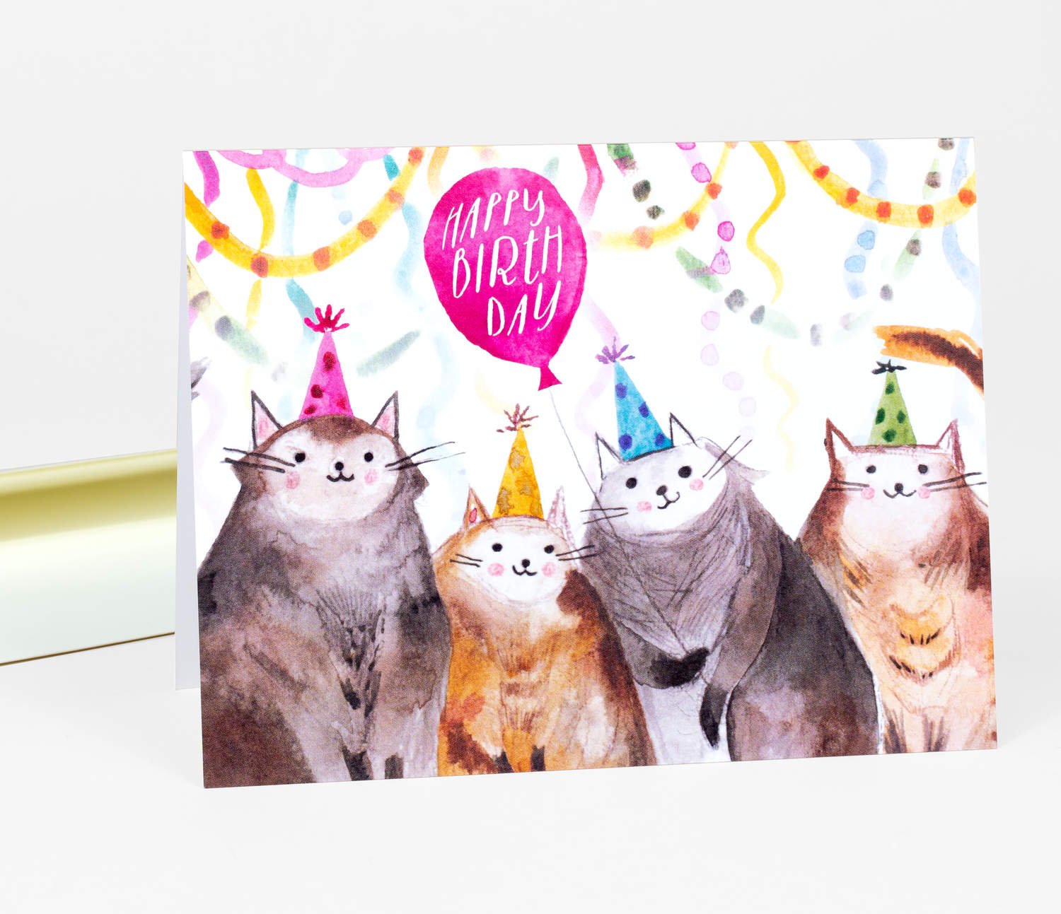 Product Image Loose Leaves Paper Goods Happy Birthday Cats