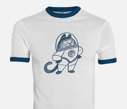 The First Cat In Space T-shirt