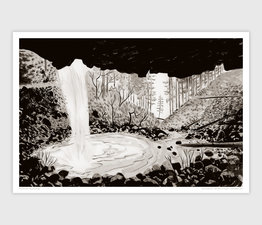 Ponytail Falls, Oneonta Gorge