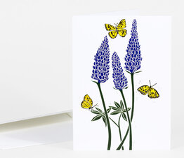 Lupine with Monarch