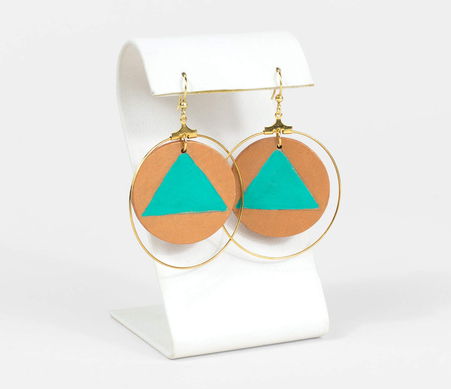 dangle gold leaves fashion turquoise earrings