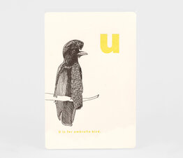 U is for Umbrella Bird