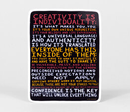 Creativity is Individuality